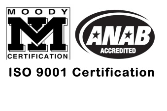 Moody Certification, ANAB Accredited, ISO 9001 Certification